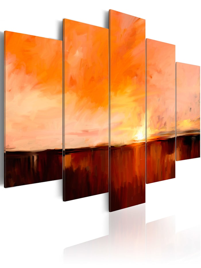 artgeist Wandbild August heat, Braun,Creme,Orange