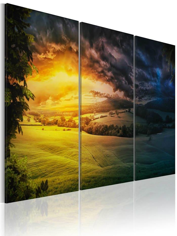 artgeist Wandbild Reich der aufgehenden Sonne, mehrfarbig