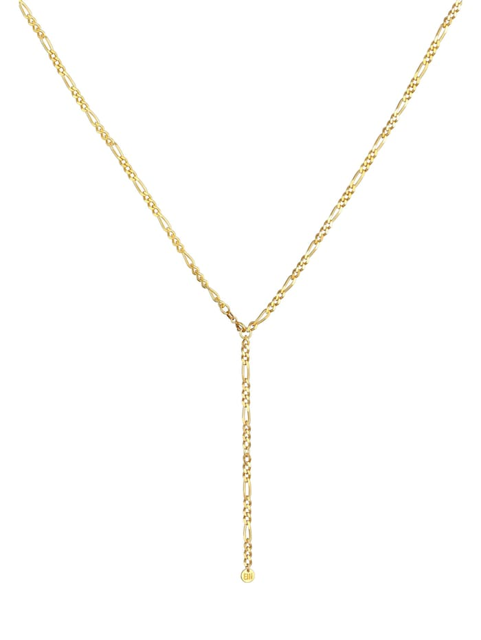 Halskette Figarokette Verstellbar Y-Kette Trend 925 Silber