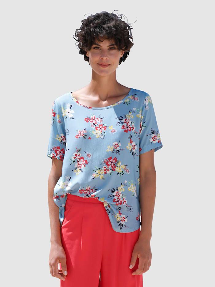 Dress In Bluse mit tollem Druck, Hellblau
