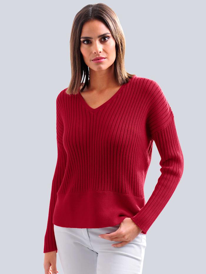 Alba Moda Pullover aus hochwertiger Pima Baumwolle, Rot