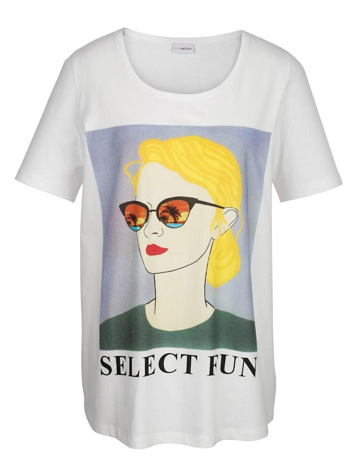 Shirt mit Frauendruckmotiv