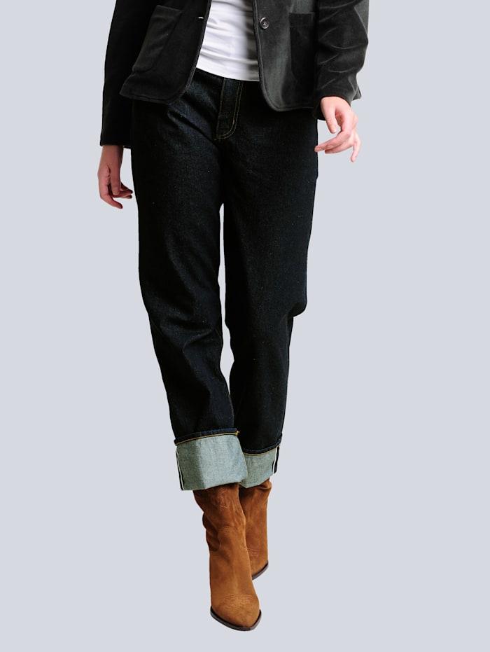 Alba Moda Jeans mit Turn-Up Funktion am Saum, Dark blue