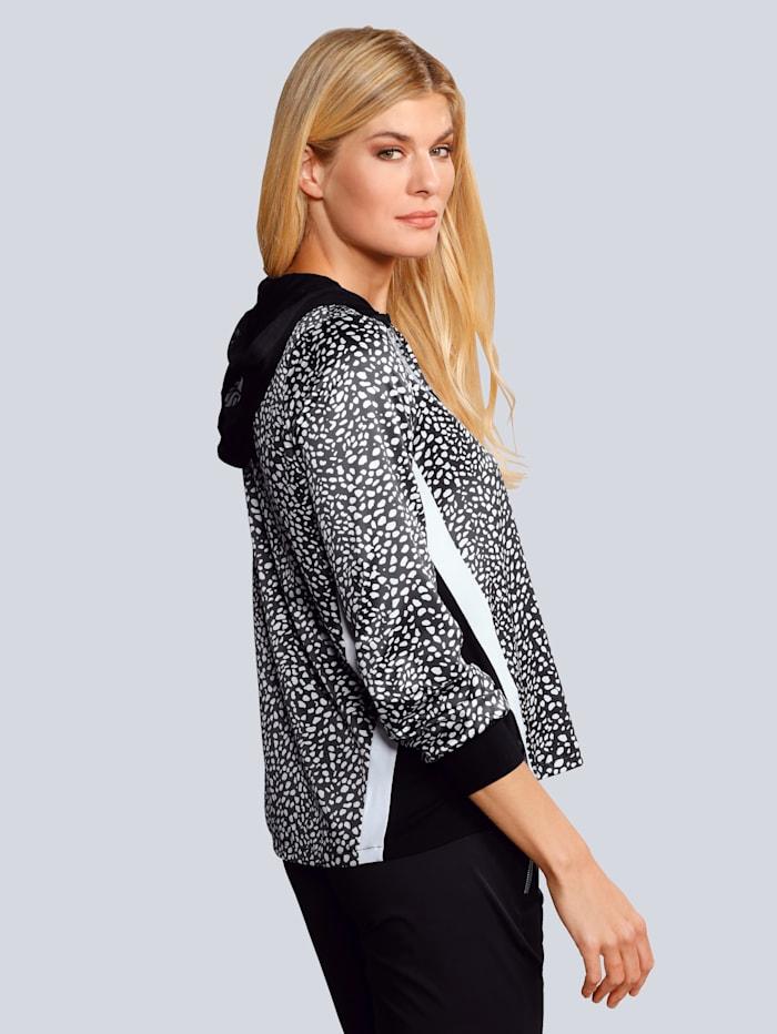 Bluse aus bedruckter Satin-Ware