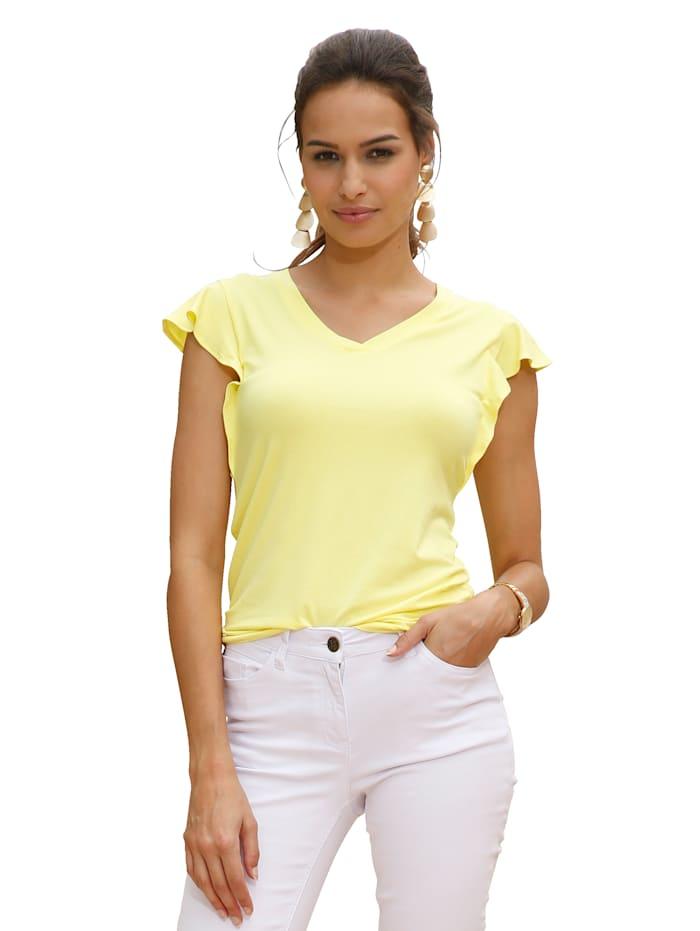 AMY VERMONT Siipihihallinen paita, Keltainen