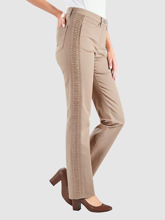 Pantalon à fronces côtés