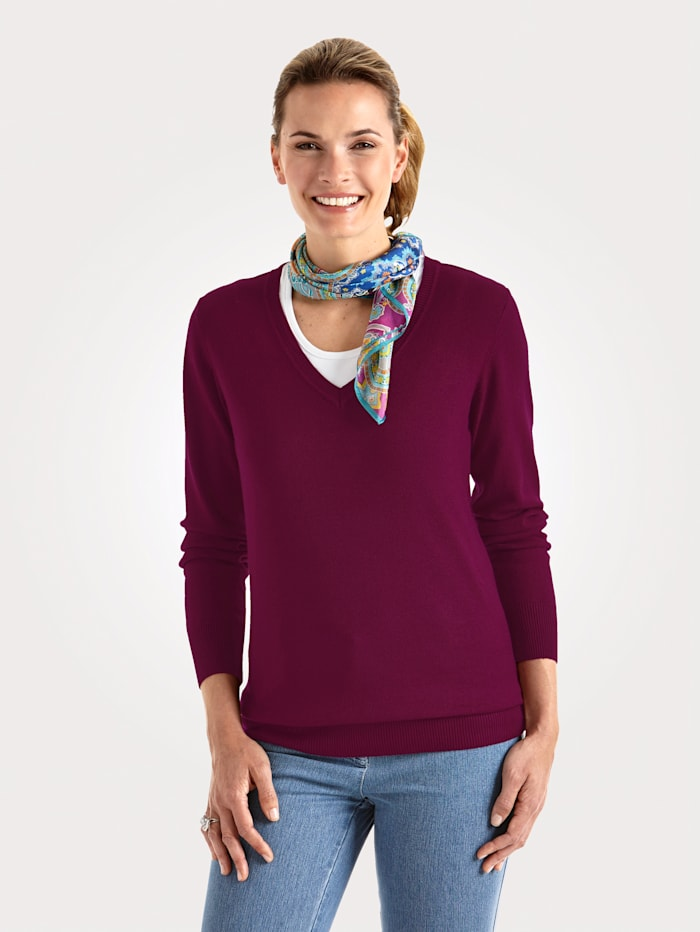 MONA Pull-over en maille douce, Baies