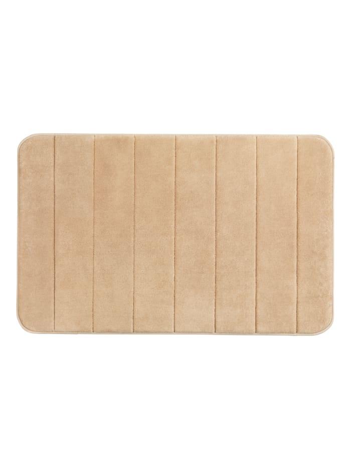 Wenko Badteppich Memory Foam Stripes, Sand, 50 x 80 cm, Oberfläche, Füllung, Rückseite