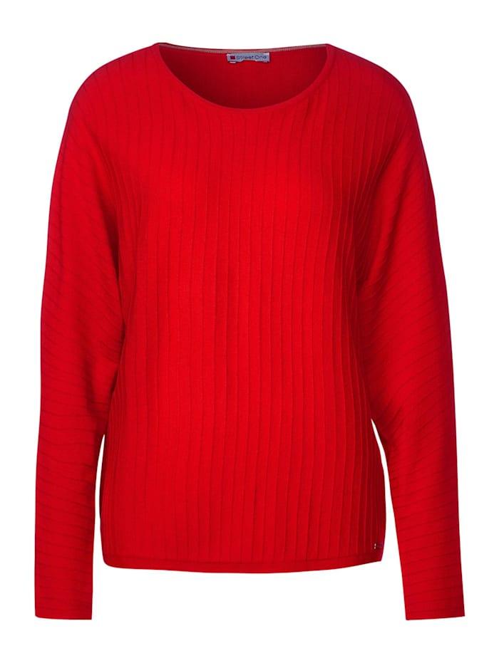 Street One Pullover mit Dolmanärmeln, blazing red