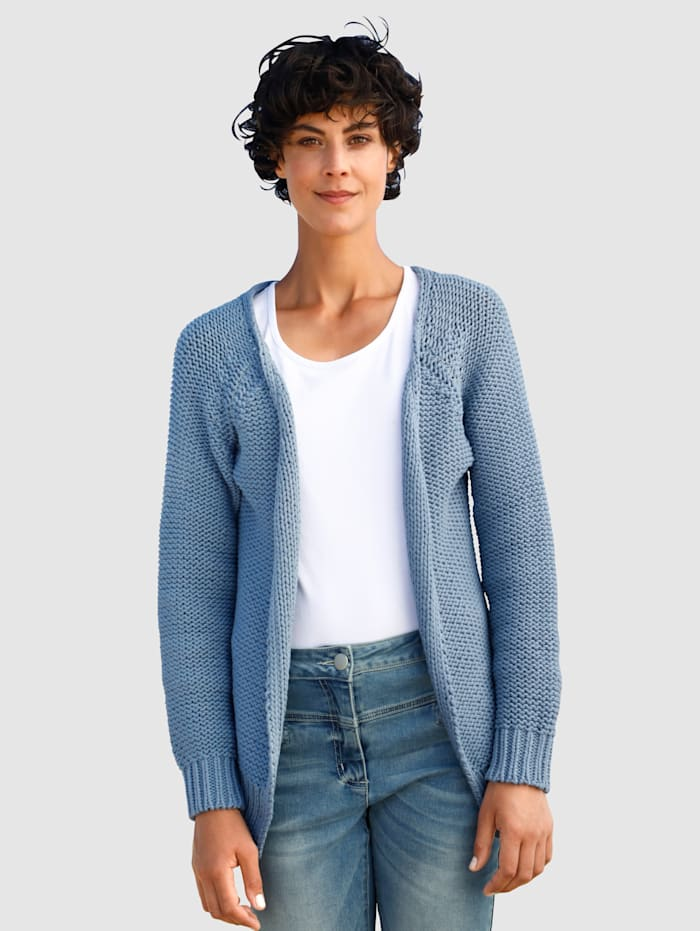 Dress In Strickjacke in offener Form, Blau