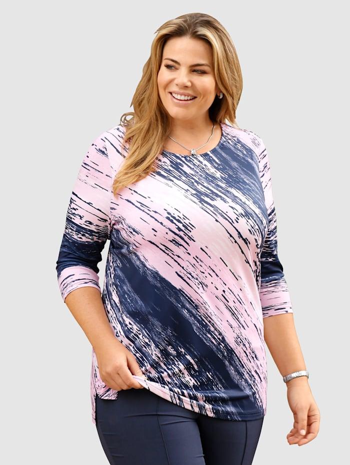 Shirt met geraffineerde diagonale strepen