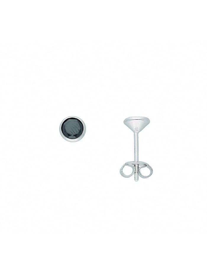 1001 Diamonds Damen Silberschmuck 925 Silber Ohrringe / Ohrstecker mit Zirkonia Ø 5,5 mm, bunt