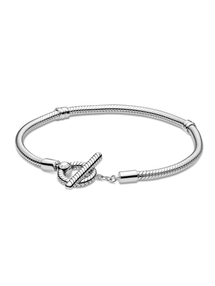 Pandora Armband mit T-Verschluss - 599082C00-19, Silberfarben