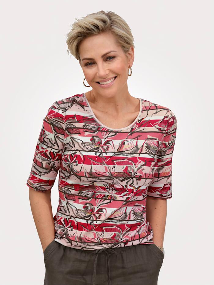 Barbara Lebek Shirt, Khaki/Koralle