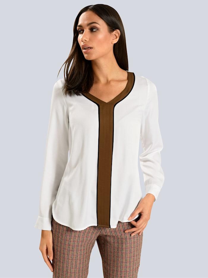 Alba Moda Bluse mit Blende, Weiß