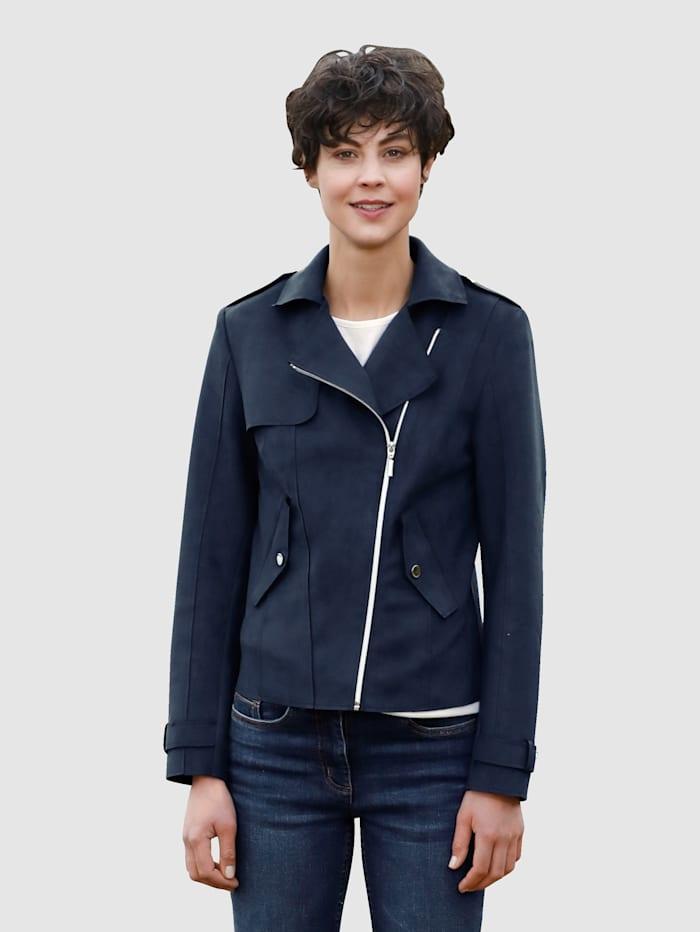Dress In Jacke mit asymmetrischem Reißverschluss, Marineblau