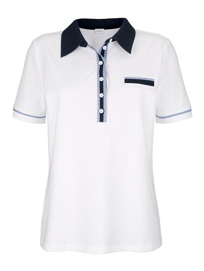 Poloshirt met sierknoopsluiting