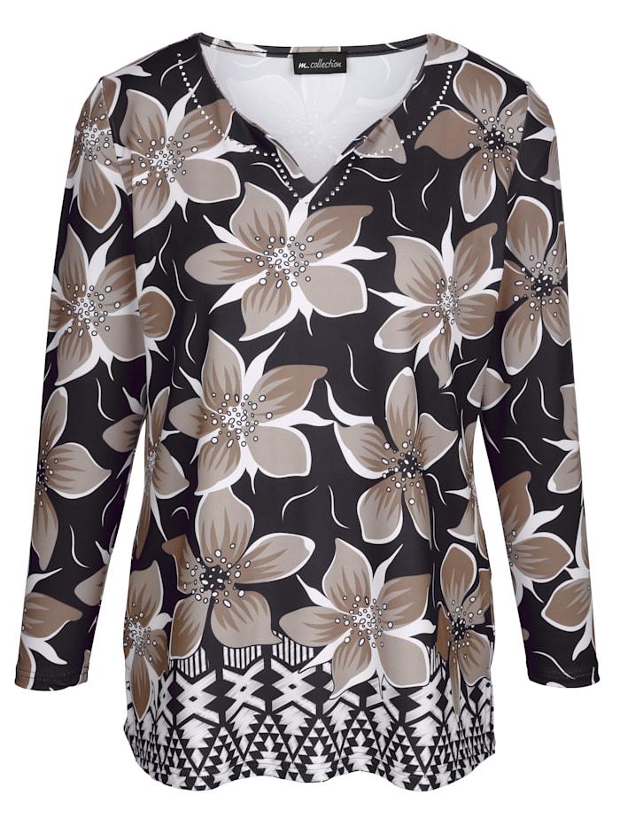 Shirt mit Blumen-Druckmuster rundum