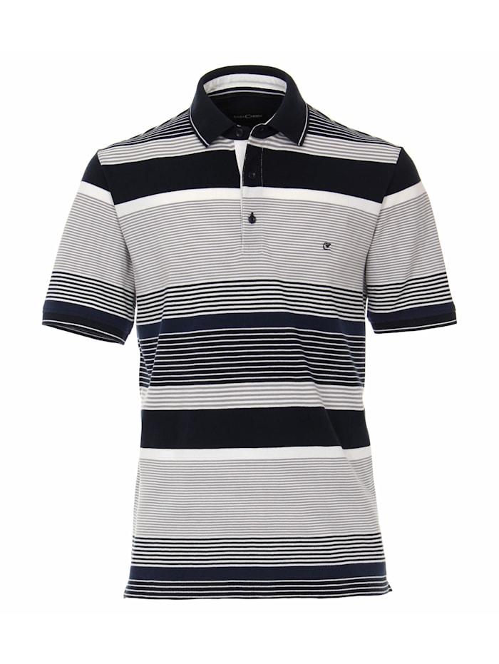 CASAMODA Polo-Shirt andere Muster, Dunkelblau