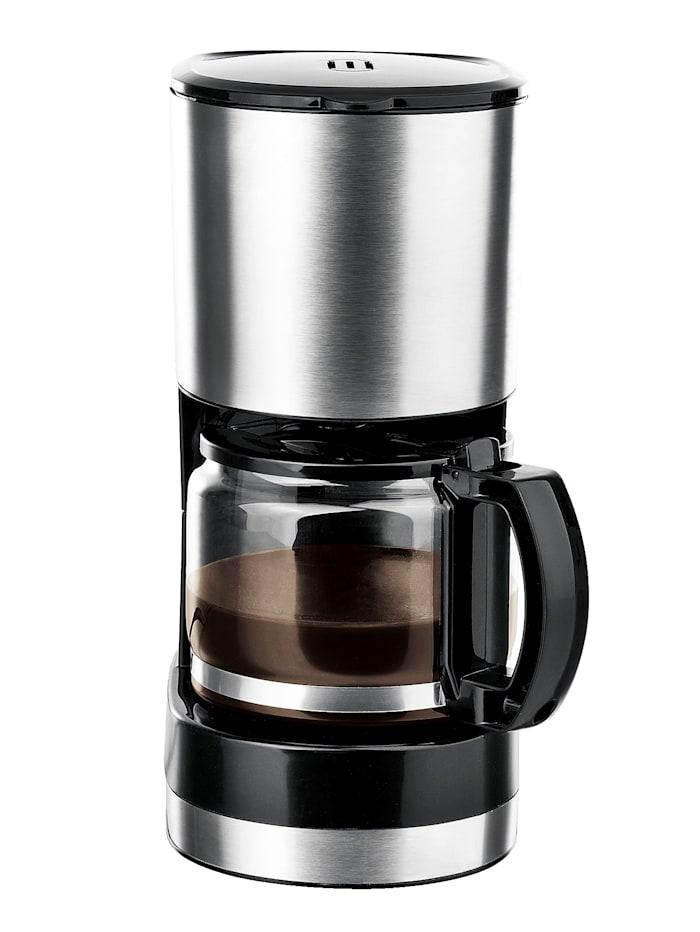 Coffeemaxx Single-Kaffeemaschine, Silber/Schwarz