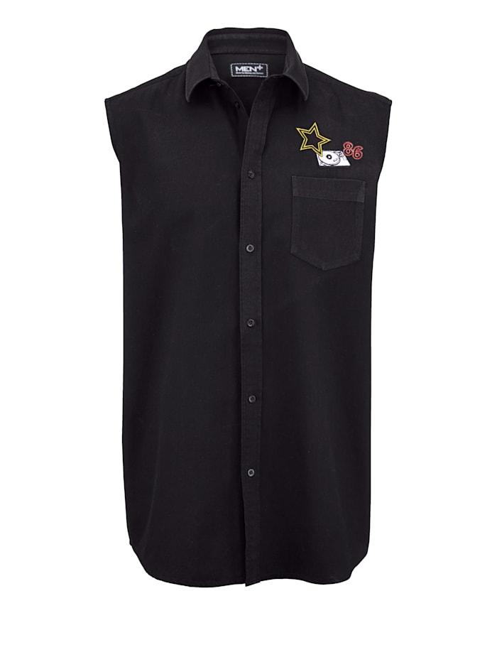 Men Plus Košeľa bez rukávov, Čierna