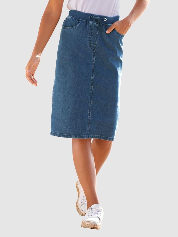 basically you Džínsová sukňa v rovnom strihu, Blue stone