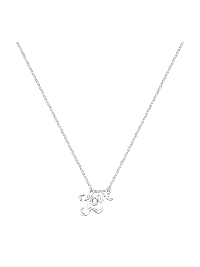 Halskette Love Liebe Schriftzug Wording 925 Sterling Silber