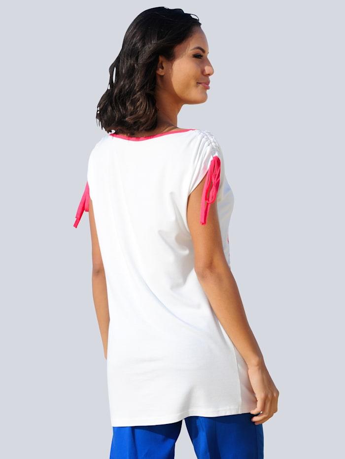 Strandshirt mit roter Paspel