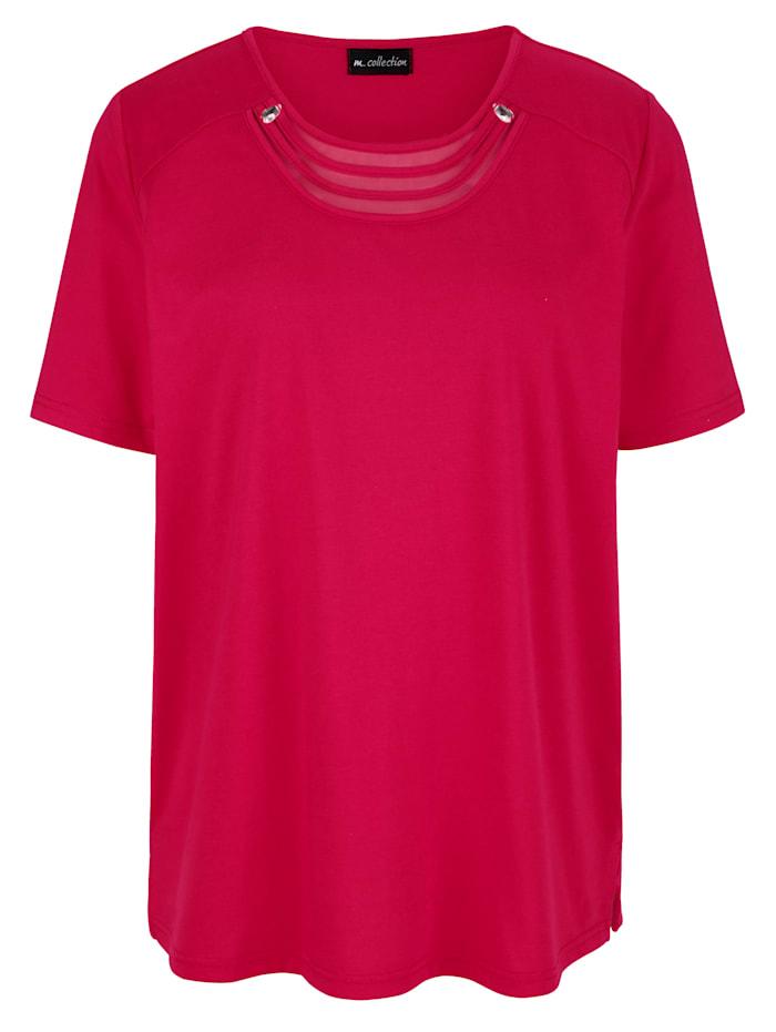 m. collection T-shirt aux détails raffinés à l'encolure, Baies