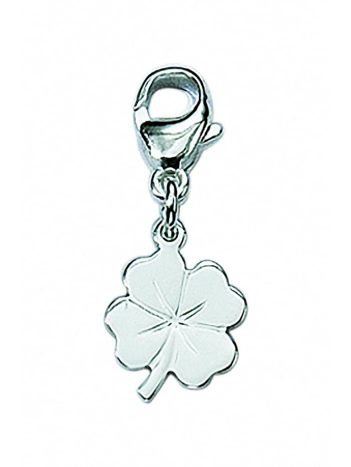 1001 Diamonds Damen Silberschmuck 925 Silber Charms Anhänger Kleeblatt, silber