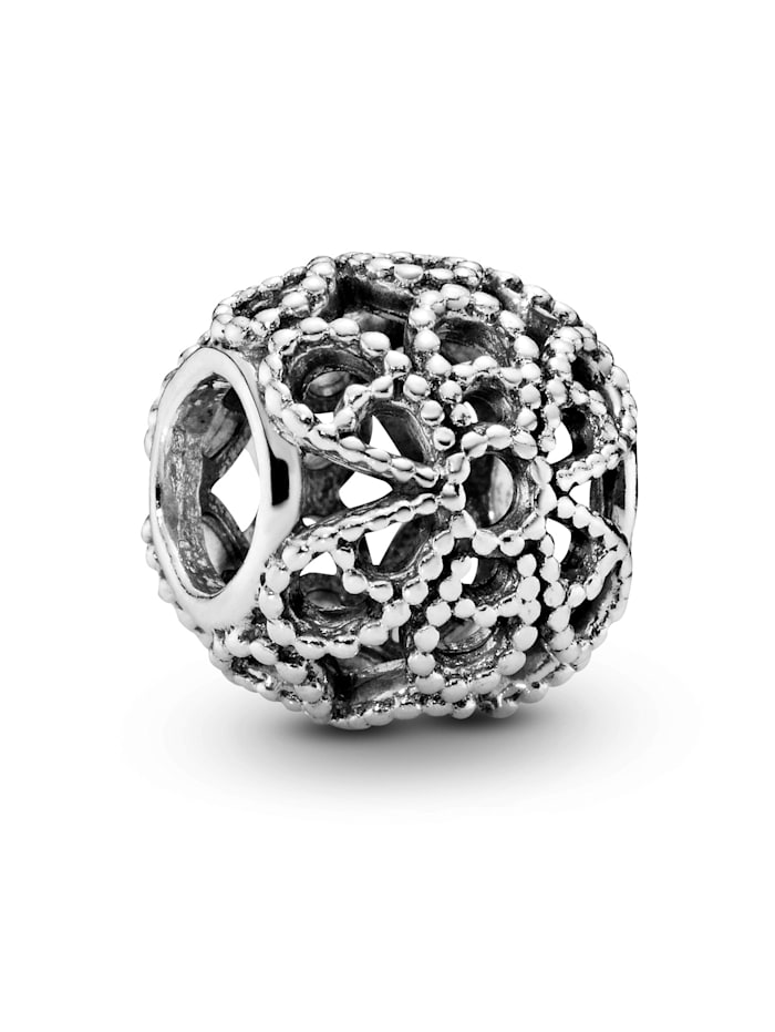 Pandora Charm - Offen gearbeitetes Metallperlen-Blüten - 791282, Silberfarben