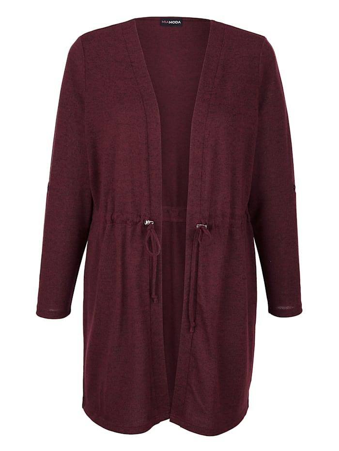 Dlhý sveter s nastaviteľnou šnúrkou v páse