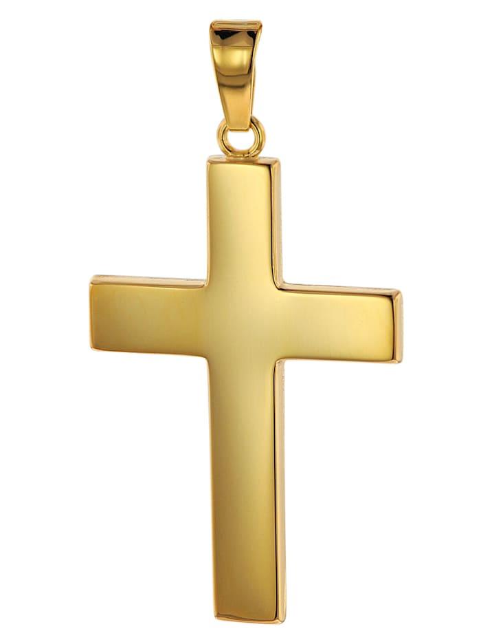 trendor Kreuz-Anhänger Gold 750 (18 Karat) 27 x 19 mm, Goldfarben