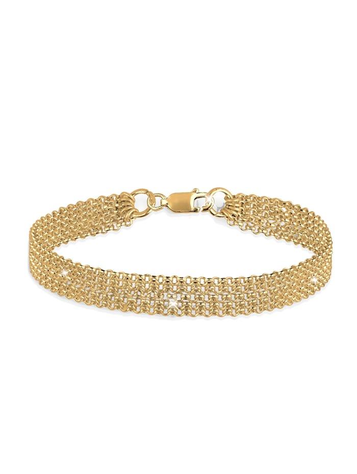 Elli Armband 5-Lagig Basic Ketten Modern 925 Sterling Silber, Gold