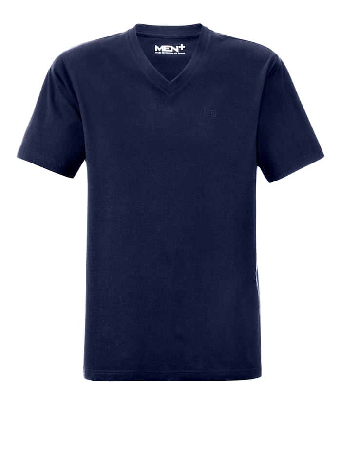 Men Plus Shirt met V-hals, Marine