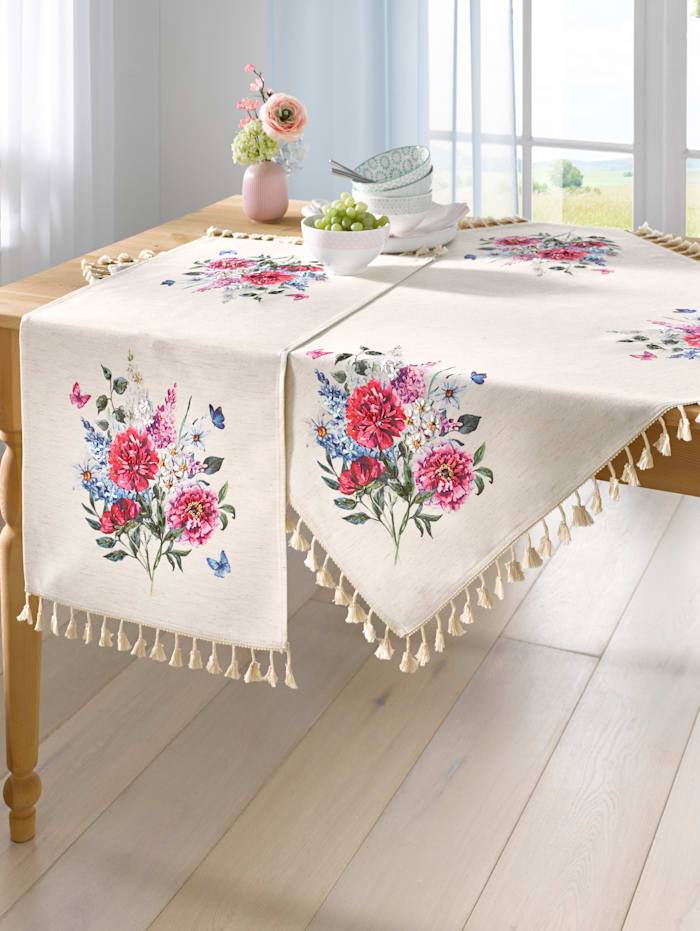 "Webschatz Linge de table ""Anouk"", Champagne/multicolore"