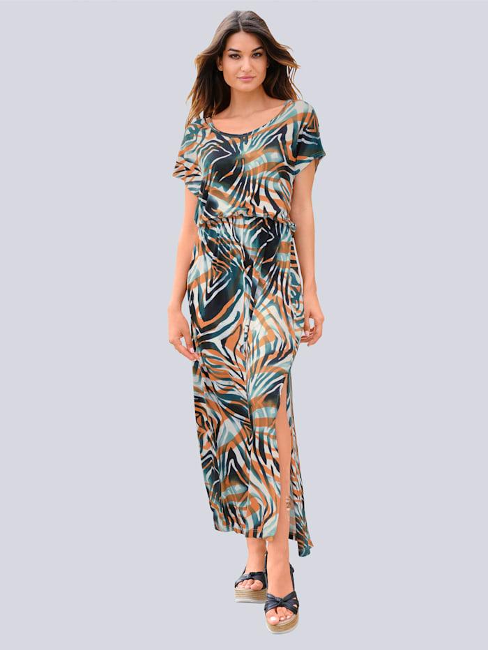 Alba Moda Strandkleid mit Animaldruck, Blau