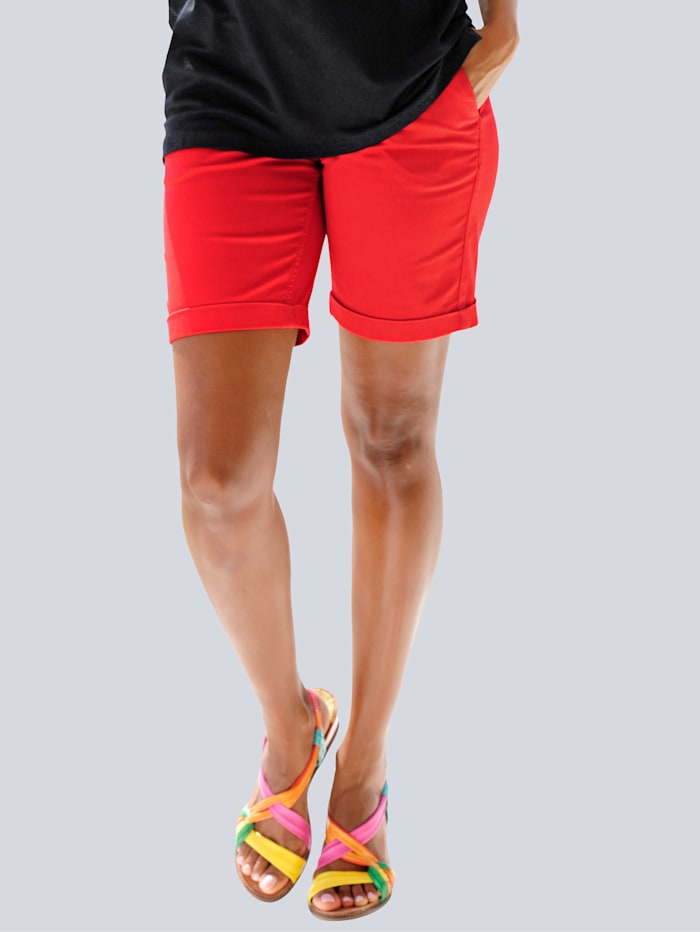 Alba Moda Strandhose mit Umschlag, Rot