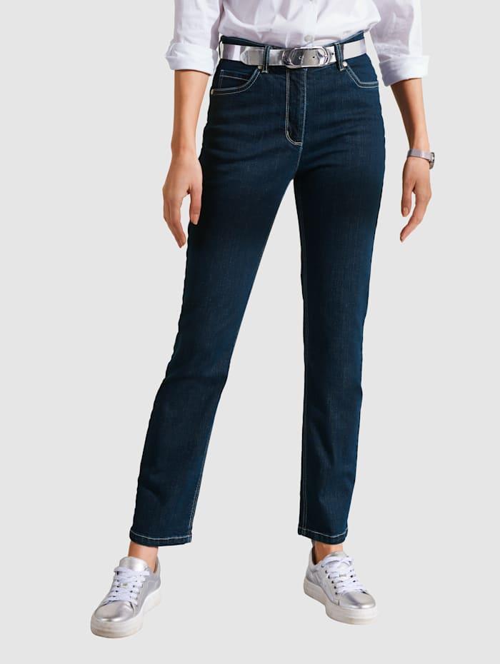 MONA Jeans i klassisk 5-ficksmodell, Mörkblå