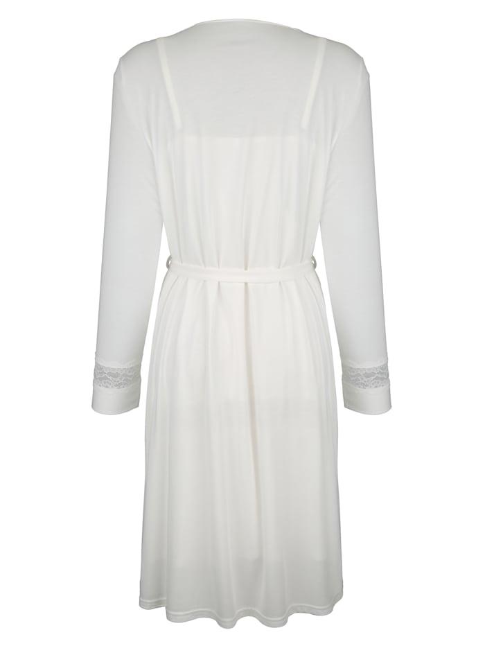 Ensemble robe de chambre + chemise de nuit avec détails élégants en dentelle Lot