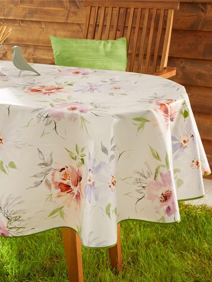 Peyer-Syntex Wachstuch-Tischwäsche 'Malea', Creme-Weiß/Multicolor