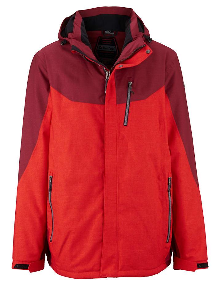 Killtec Funksjonsjakke i pustende, vann- og vindavvisende materiale, Rød