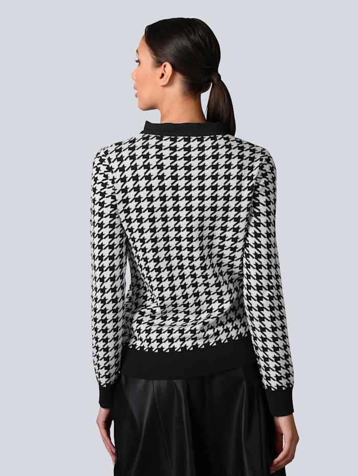 Pullover mit Chiffon-Kragen