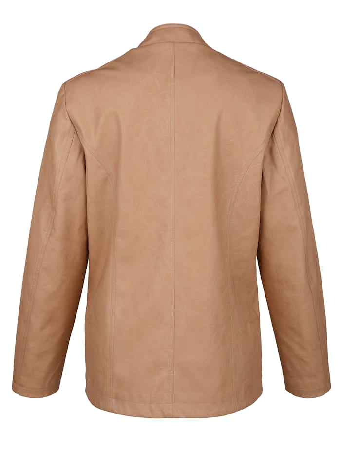 Imitatieleren jasje met borduursel