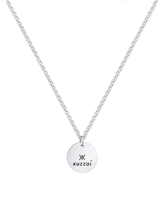 Halskette Herren Erbskette Coin Massiv Logo 925 Silber