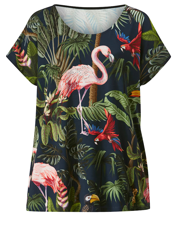 Shirt met tropisch dessin