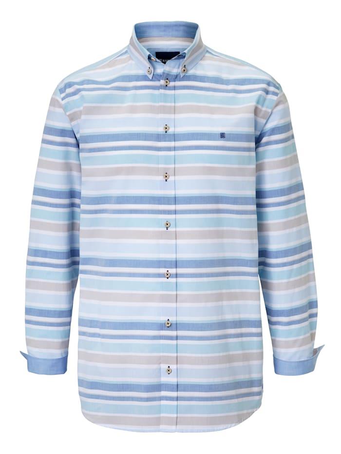 BABISTA Overhemd met ingeweven dwarsstrepen, Blauw/Beige
