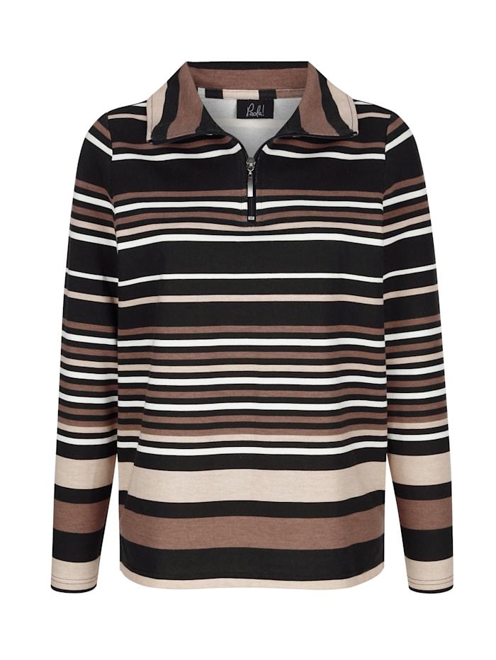 Sweatshirt met streepdessin