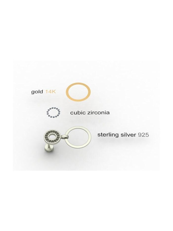 Ohrstecker - Sunny Exklusiv - Silber 925/000 & Gold 585/000 - Zirkonia