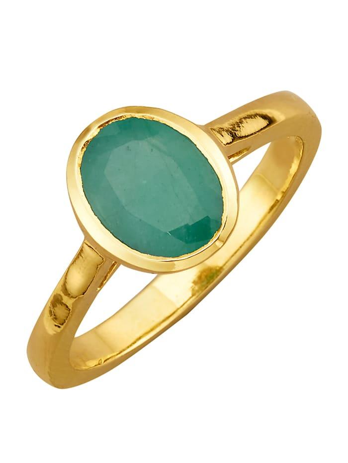 Ring med smaragd, Grön
